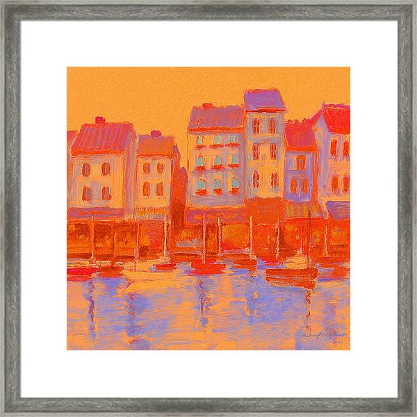 French Harbor Framed Print