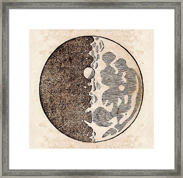 Galileo's Moon Observations Framed Print