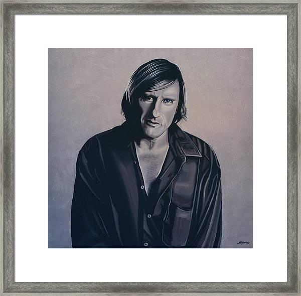 Gerard Depardieu Painting Framed Print