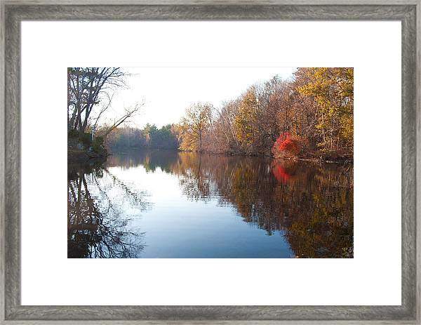 Gingerbread Lake Framed Print by Gretchen Lally