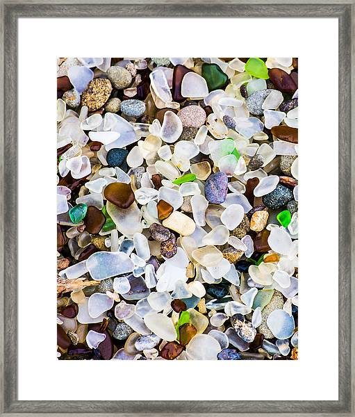 Framed Print featuring the photograph Glass Beach by Priya Ghose