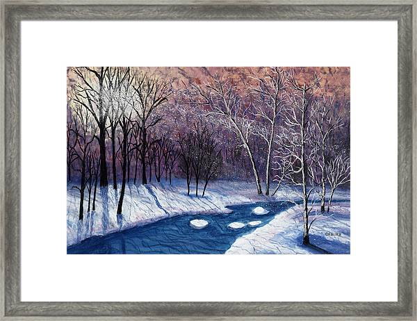 Glistening Branches Framed Print