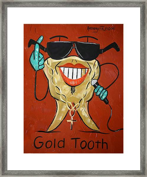 Gold Tooth Framed Print