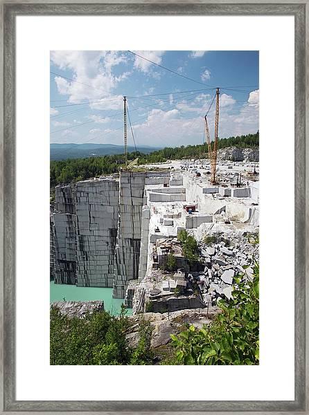 Granite Quarry Framed Print