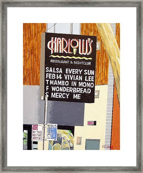 Harlow's Framed Print by Paul Guyer