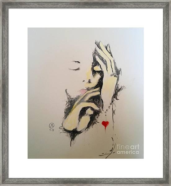 Heart Bracelet Framed Print