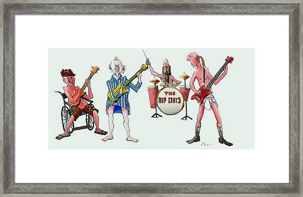 Sixties And Seventies Musicians Framed Print