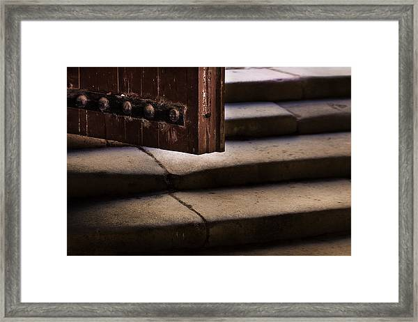 Here It's Cold Framed Print