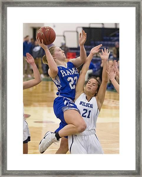 High School Basketball Framed Print by Portland Press Herald