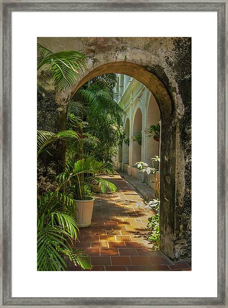 Historic Santuario And Iglesia De San Framed Print by Jerry Ginsberg