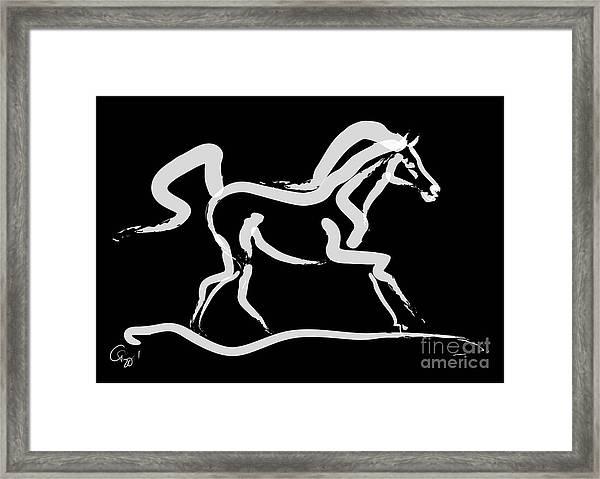 Horse-runner Framed Print