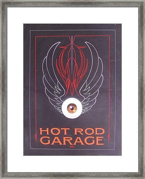 Hot Rod Garage Framed Print