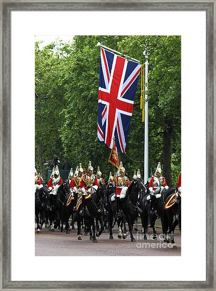 Household Cavalry Life Guards Framed Print