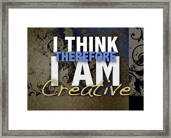 I Think Framed Print