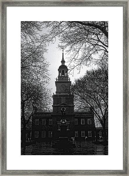 Framed Print featuring the photograph Independence Hall by David Armstrong