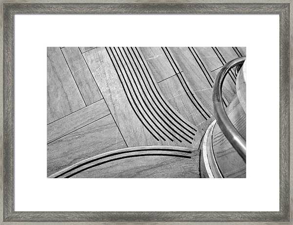 Intersection Of Lines And Curves Framed Print