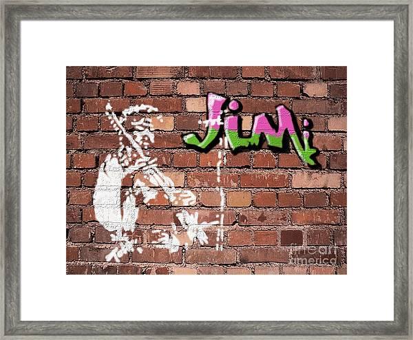 Jimi Graffiti Framed Print