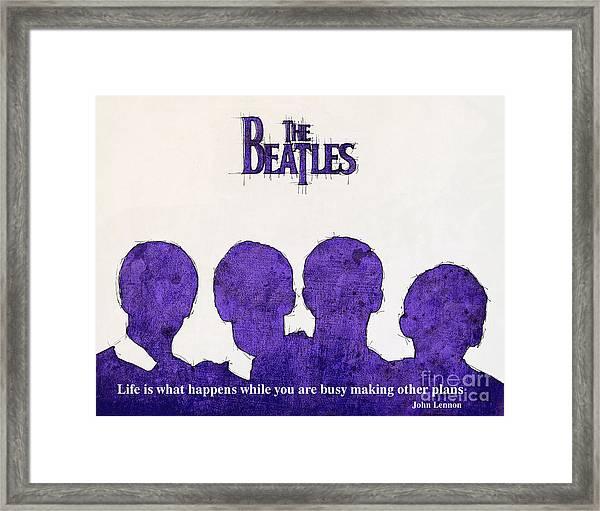 John Lennon Quote - The Beatles Framed Print