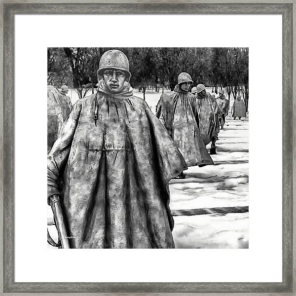 Korean War Memorial Washington Dc Framed Print
