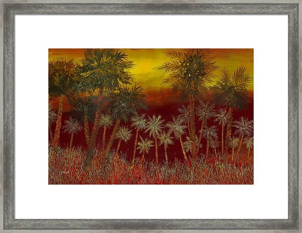 La Jungla Rossa Framed Print