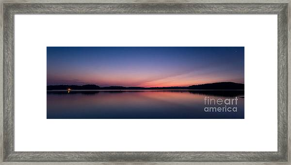 Lake Lanier After Sunset Framed Print