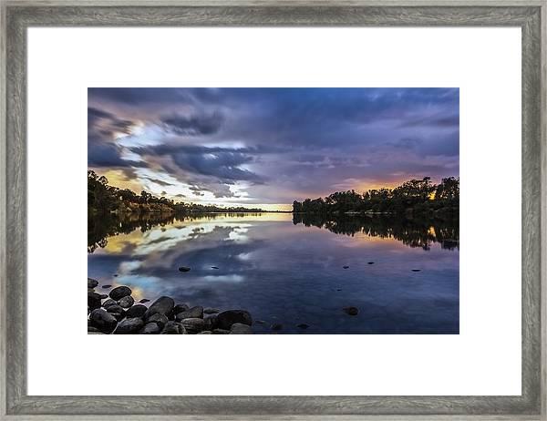 Lake Natoma Framed Print