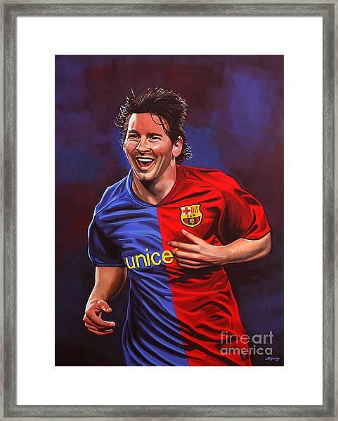Lionel Messi  Framed Print