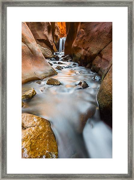 Liquid Metal Framed Print