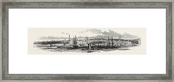 Liverpool, From Woodside, In 1846 Framed Print