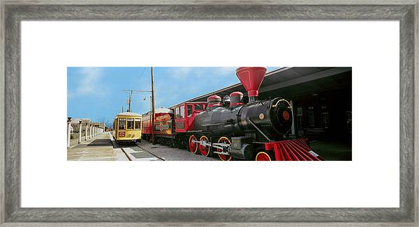 Locomotive At The Chattanooga Choo Framed Print
