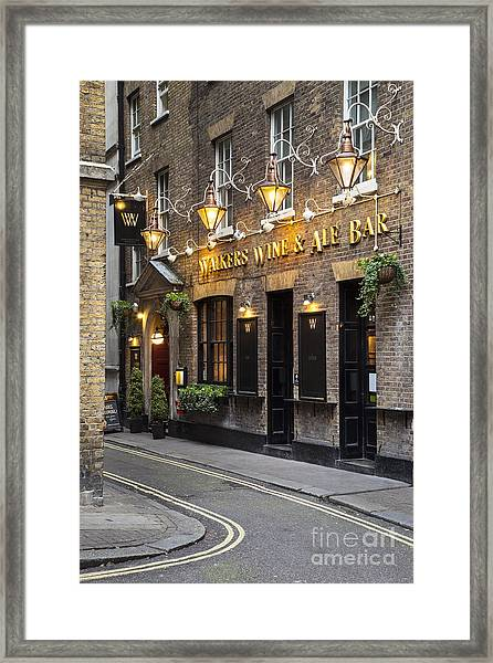 Framed Print featuring the photograph London Pub by Brian Jannsen