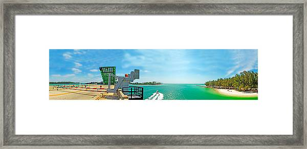 Longboat Pass Drawbridge Framed Print