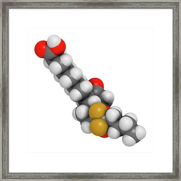 Lubiprostone Chronic Constipation Drug Framed Print by Molekuul