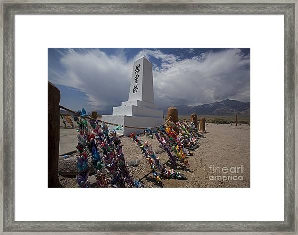 Manzanar War Relocation Center Framed Print