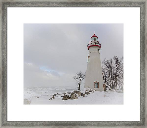 Marblehead Lighthouse Lake Erie Framed Print