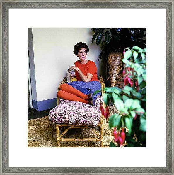 Marella Agnelli At Home Framed Print