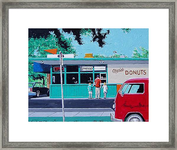 Maries Donuts Framed Print by Paul Guyer