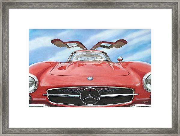 Mercedes Gullwing Framed Print