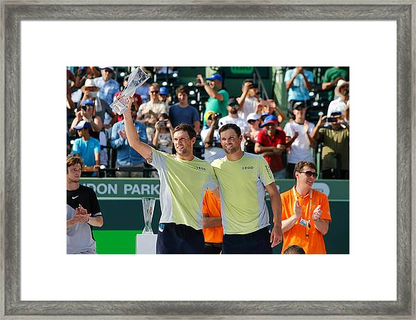 Miami Open 2018 - Day 13 Framed Print by Michael Reaves