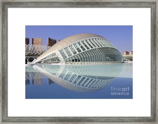 The Hemisferic In Valencia Spain Framed Print