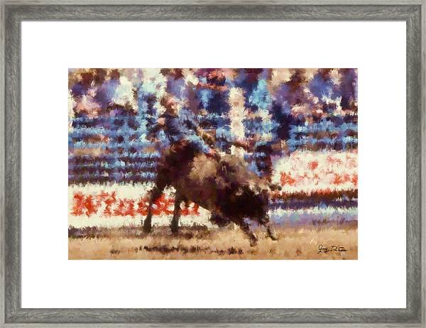 2 More Seconds Framed Print