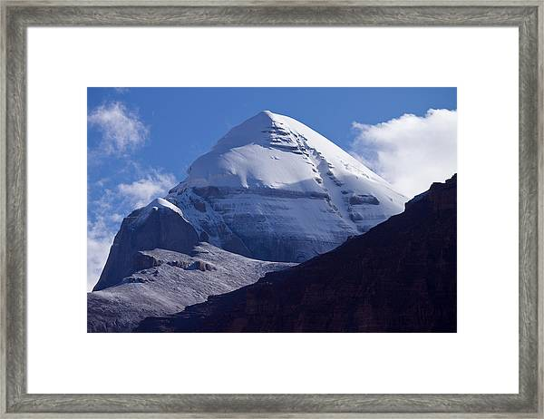 Framed Print featuring the photograph Mount Kailash by Raimond Klavins