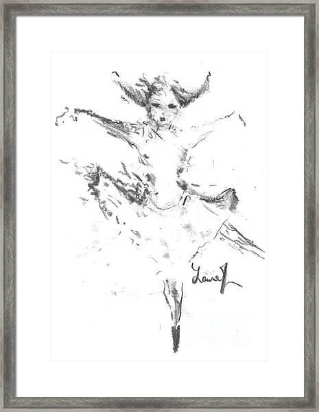 Movement Of Dance Framed Print