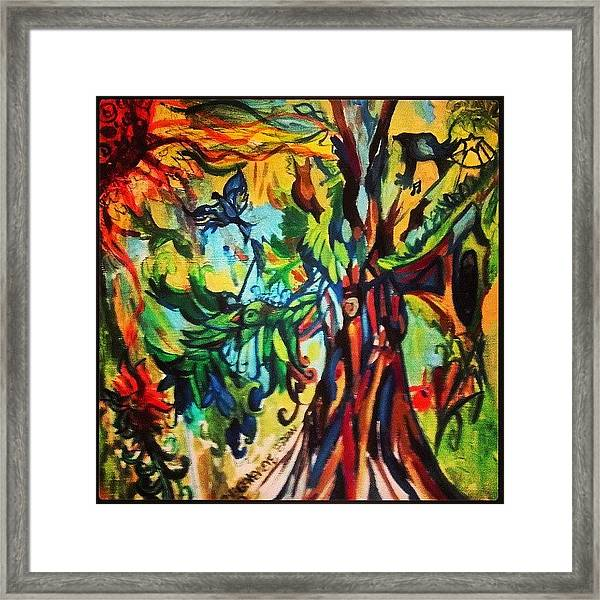 Music In Bird Of Tree Framed Print