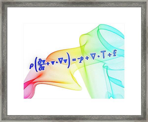 Navier-stokes Equation Framed Print by Alfred Pasieka