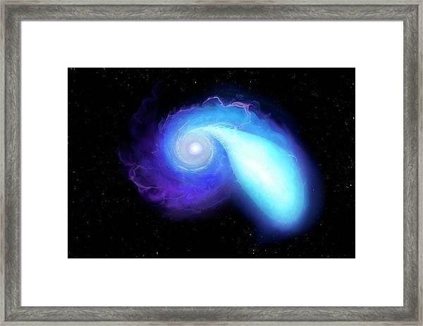 Neutron Star And White Dwarf Merging Framed Print by Mark Garlick