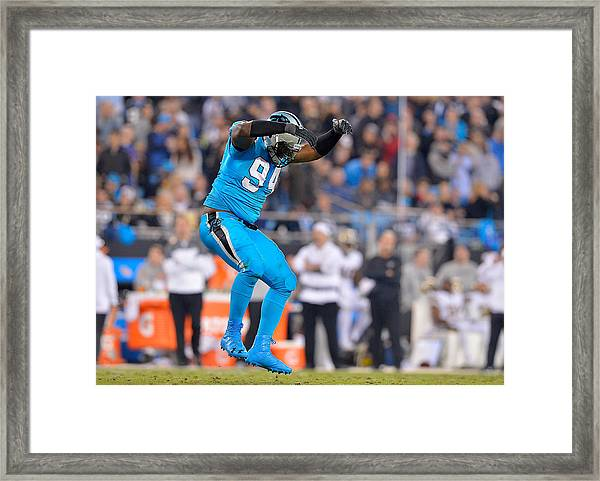 New Orleans Saints V Carolina Panthers Framed Print by Grant Halverson