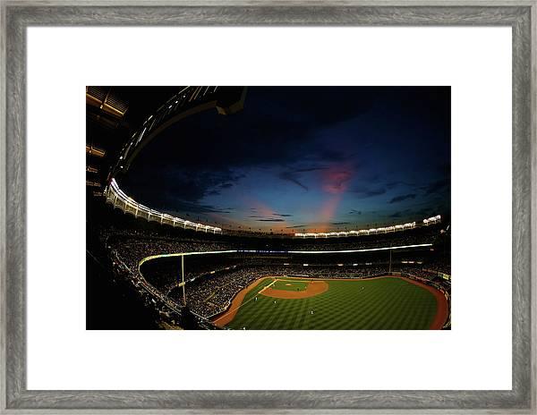 New York Mets V New York Yankees Framed Print