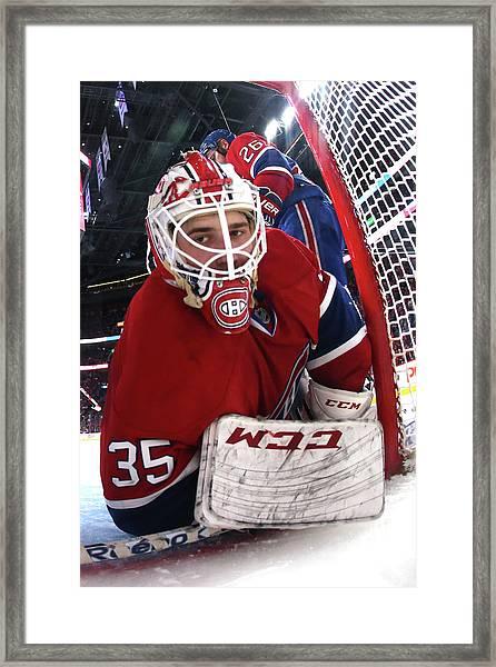 New York Rangers V Montreal Canadiens - Framed Print by Bruce Bennett