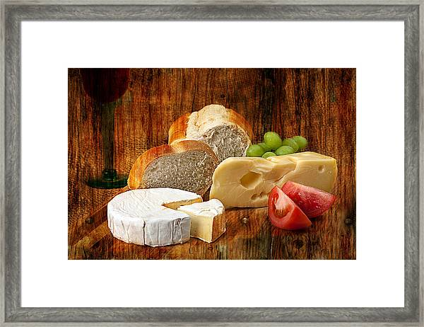 Norwegian Jarlsberg And Camembert Framed Print